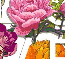 Floral and birds flamingos Love Graphic Design Sticker