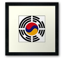 Korean Armenian Multinational Patriot Flag Series Framed Print