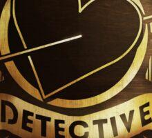 Valentine Detective Agency Gold Sticker