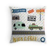 Let's Hit The Road Throw Pillow