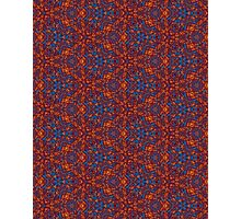 Red & Blue Pattern Photographic Print