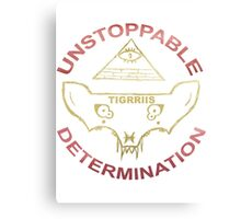 TIGRRIIS - Unstoppable Determination [Red + Gold] Canvas Print
