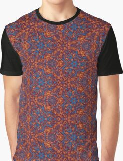 Red & Blue Pattern Graphic T-Shirt