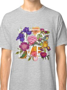 Floral and birds Graphic Design  Classic T-Shirt