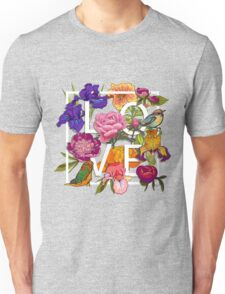 Floral and birds Graphic Design  Unisex T-Shirt