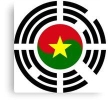Korean Burkina Faso Multinational Patriot Flag Series Canvas Print