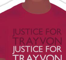 """Justice For Trayvon"" Sticker"