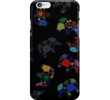 Colorful graphics elephants iPhone Case/Skin