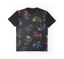 Colorful graphics elephants Graphic T-Shirt