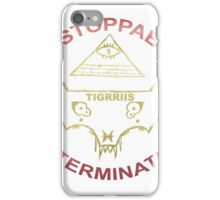 TIGRRIIS - Unstoppable Determination [Red + Gold] iPhone Case/Skin
