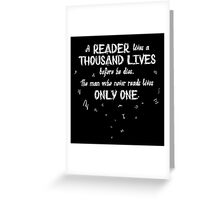 A Thousand Lives Greeting Card