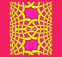 A Celtic Knotwork design in mauve & gold Womens Fitted T-Shirt