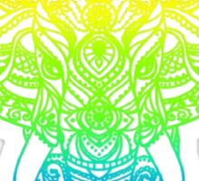Beautiful Rainbow Elephant Design Type A Sticker
