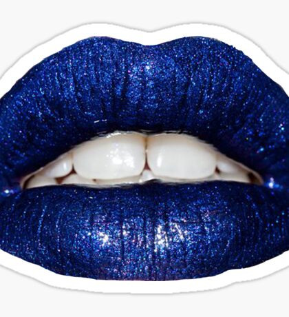 Blue Metallic Lip Sticker