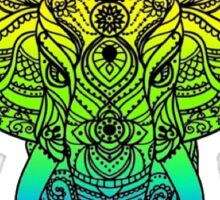 Beautiful Rainbow Elephant Design Type B Sticker