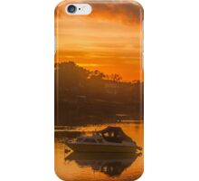 Sunset over Tranquil River and Bank iPhone Case/Skin