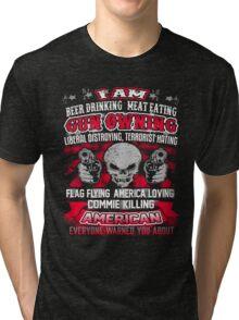 AMERICAN GUN OWNING Tri-blend T-Shirt