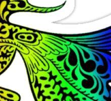 Beautiful Rainbow Fish Design Sticker