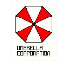 Umbrella Corporation pixel logo Art Print