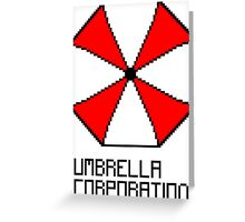 Umbrella Corporation pixel logo Greeting Card