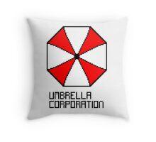 Umbrella Corporation pixel logo Throw Pillow