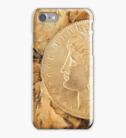 Abstract Vintage Coins iPhone Case/Skin