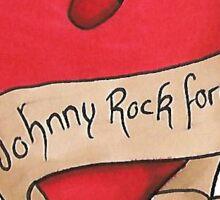 Johnny Rock Forever Sticker