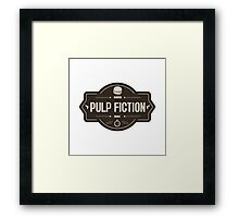 Pulp fiction vintage Framed Print