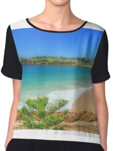 Beach at Bermagui Chiffon Top