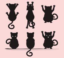 Black Cat Silhouette Baby Tee