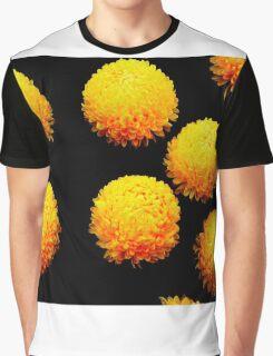 yellow globes on black Graphic T-Shirt