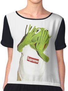 Kermit Photobomb Chiffon Top
