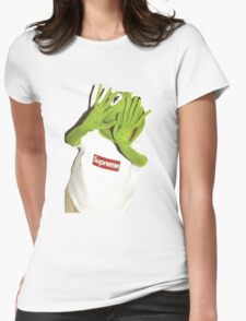 Kermit Photobomb Womens Fitted T-Shirt