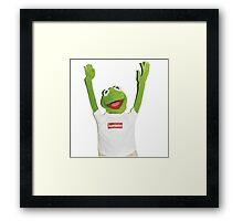 Kermit Happy Framed Print