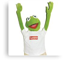 Kermit Happy Canvas Print