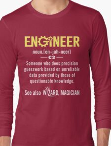 ENGINEER Shirt - Funny Engineer Definition - Trust Me I'm An Engineer  Long Sleeve T-Shirt