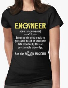 ENGINEER Shirt - Funny Engineer Definition - Trust Me I'm An Engineer  Womens Fitted T-Shirt