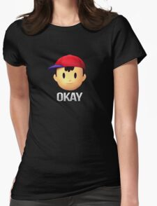 Ness - Okay Womens Fitted T-Shirt