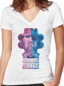 Snake Plissken (Escape From New York) Women's Fitted V-Neck T-Shirt