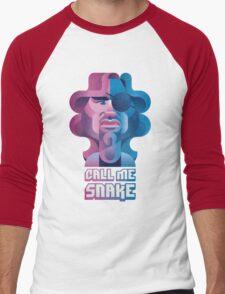 Snake Plissken (Escape From New York) Men's Baseball ¾ T-Shirt