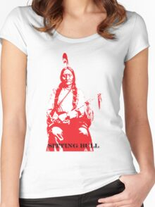 Sitting Bull - Red Women's Fitted Scoop T-Shirt