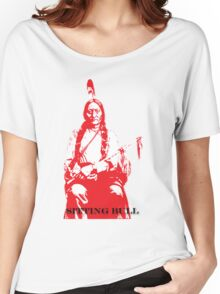 Sitting Bull - Red Women's Relaxed Fit T-Shirt