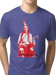 Sitting Bull - Red Tri-blend T-Shirt