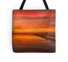 Long Jetty Sunset Tote Bag