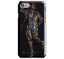 Eric Morecambe statue by night iPhone Case/Skin