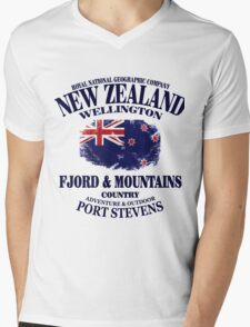 New Zealand Mens V-Neck T-Shirt