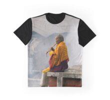 Flute Man 0f Shree Pashupatinath Hindu Temple Graphic T-Shirt