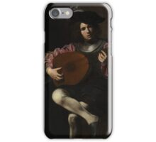 Valentin de Boulogne - The Lute Player iPhone Case/Skin