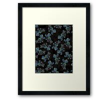 Traditional flower illustration seamless pattern. Eastern style traditional design Framed Print