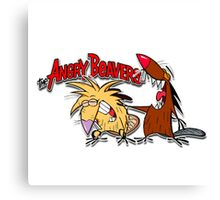smille Angry Beavers Canvas Print